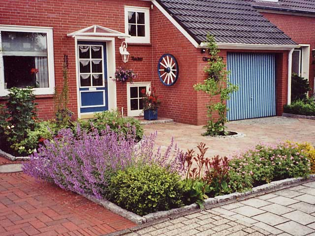 vorgartengestaltung reihenhaus – rekem, Garten Ideen